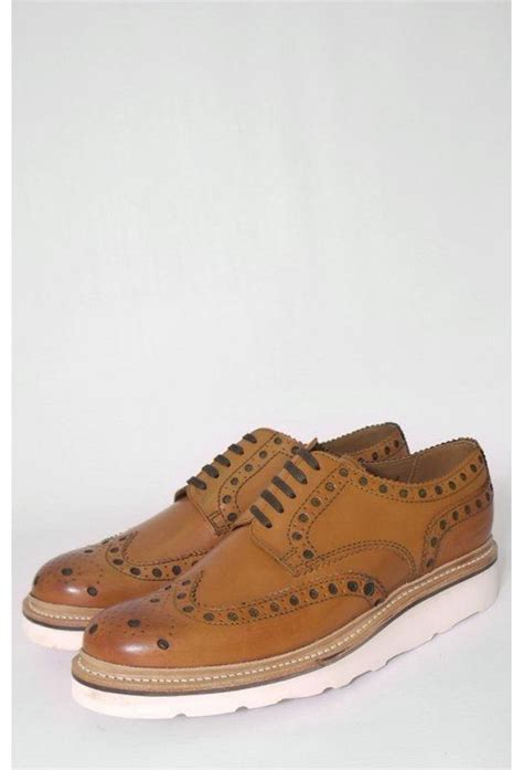 grenson archie leather vibram brogue shoes triads
