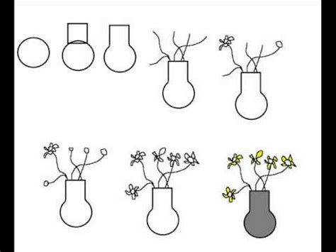 How To Draw A Vase Step By Step by How To Draw A Vase With Flowers Simple Step By Step