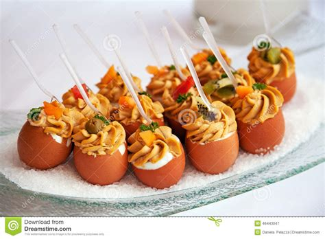 cocktail food food for cocktail on wedding stock image image