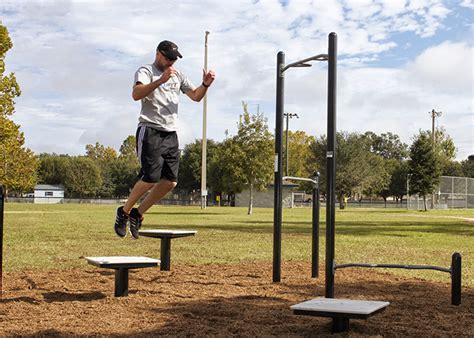plyometric box outdoor adult fitness parks balance strength