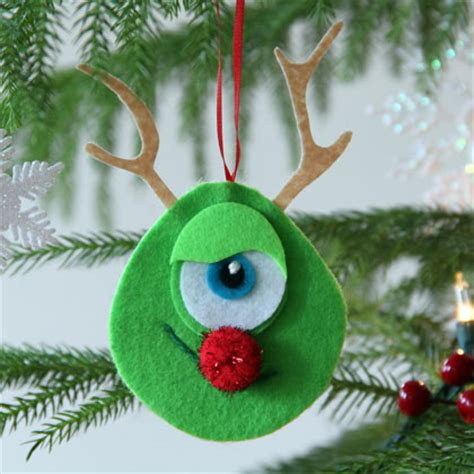 mike wazowski rudolph nose ornament disney family