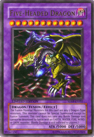 yugioh sd enss  headed dragon starter deck card ebay