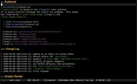 color themes emacs emacs color themes