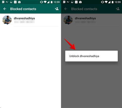 how to unblock a number android how to block or unblock whatsapp user on android phone