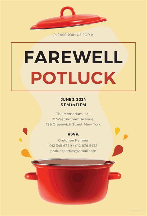 10 Potluck Email Invitation Templates Psd Ai Free Premium Templates Potluck Flyer Template Word