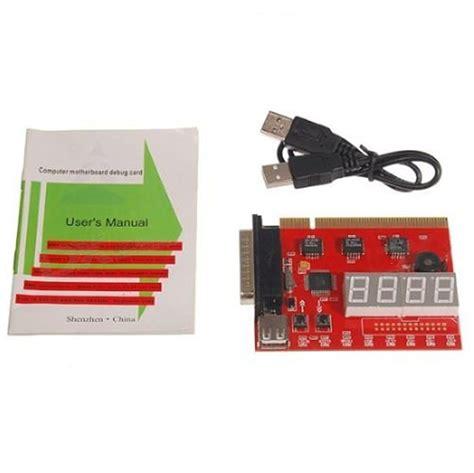 Debug Card Usb placa diagn 243 stico 4 d 237 gitos usb lpt pci debug card