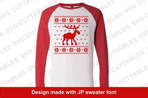 sweater pattern font ugly christmas sweater font by svg cuttables