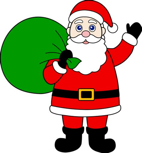 santa claus with sack of gifts free clip art
