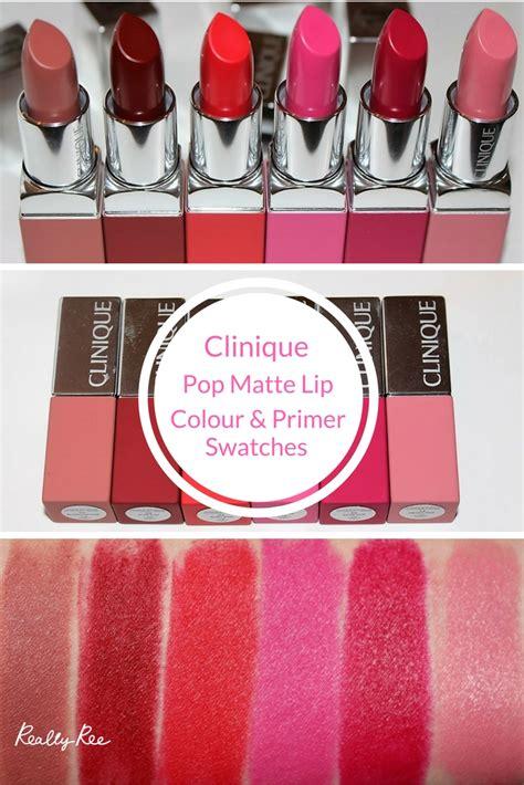Clinique Pop Matte clinique pop matte lip colour primer swatches
