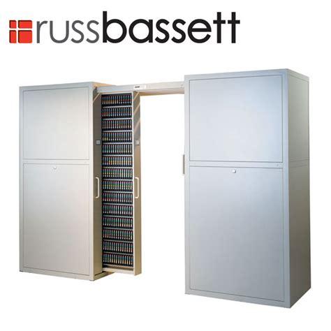 lto tape media storage cabinet russ bassett media storage