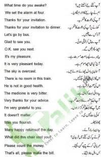 daily use sentences with urdu translation