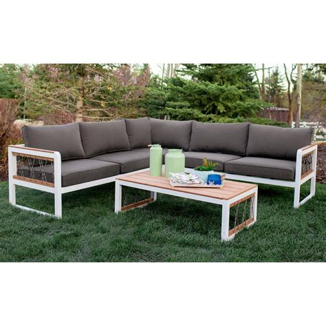outdoor wood sectional walker edison furniture company 4 piece wood outdoor