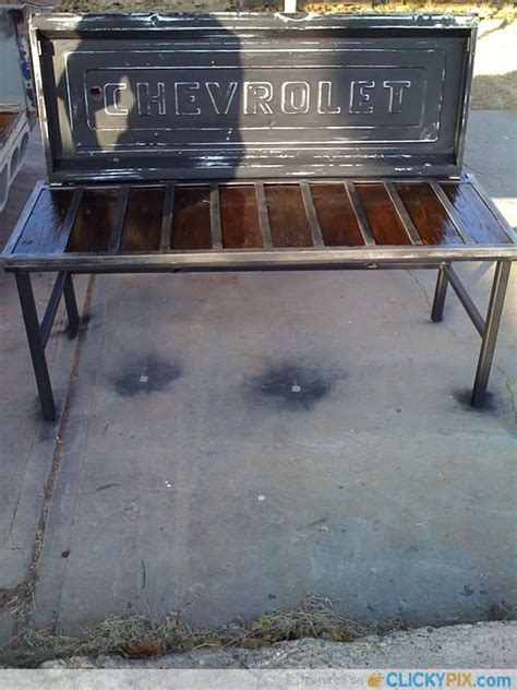 Tailgate Bench From Old Tailgates 18 Man Cave Stuff