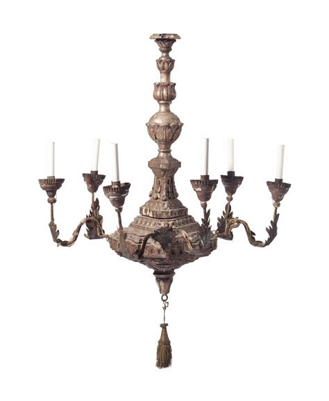 Chandelier Parts Nyc An Italian Silvered Wood And Metal Six Light Chandelier Parts Possibly 18th Century Christie S