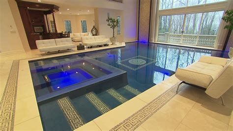 swimming pool room mansion for sale swim in your living room video