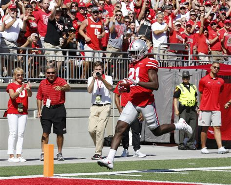 columbus dispatch sports section ohio state football passing game comes together in record