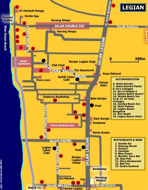 ill    week map  legian bali bali blog