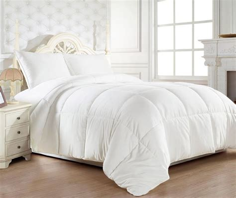 goose down alternative reversible white comforter and 3