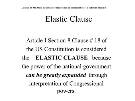 elastic clause article 1 section 8 elastic clause article i section 8 clause 18 of ppt