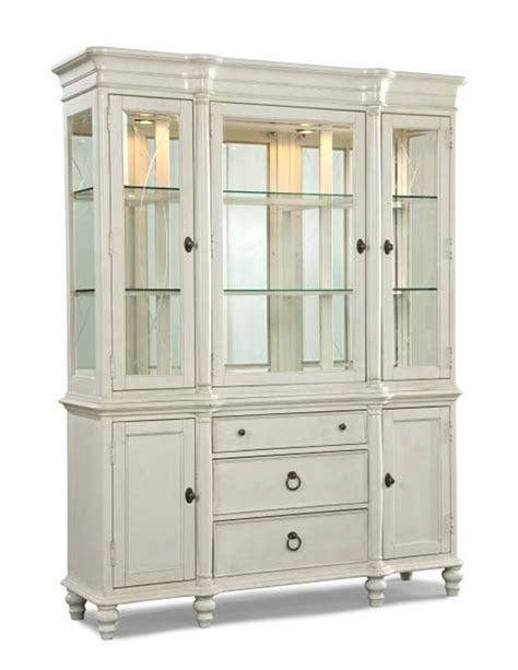 $1,586 LEGACY CLASSIC GLEN COVE CHINA CABINET IN WHITE (866) 730   7837