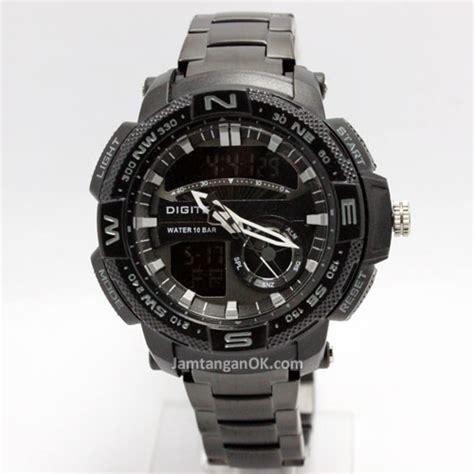 jam tangan digitec rantai dg3014 black terbaru