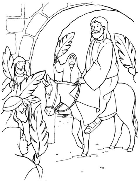 printable easter sunday jesus coloring page