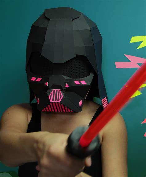 Darth Vader Mask Papercraft - helmet robotspacebrain