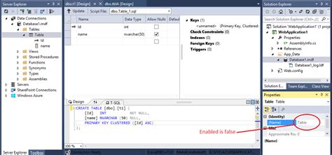 Change Table Name C How To Change The Table Name In Visual Studio 2013 In Design Mode Stack Overflow
