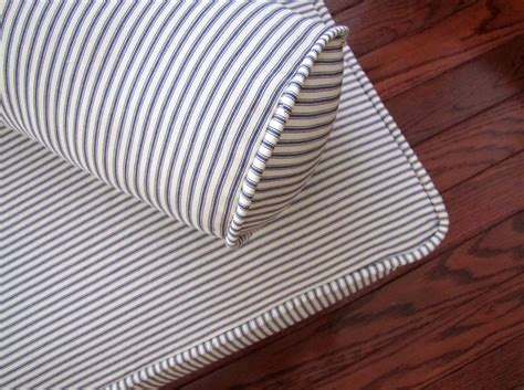 slipcovers for daybeds piped daybed mattress cover blue ticking stripe slipcover