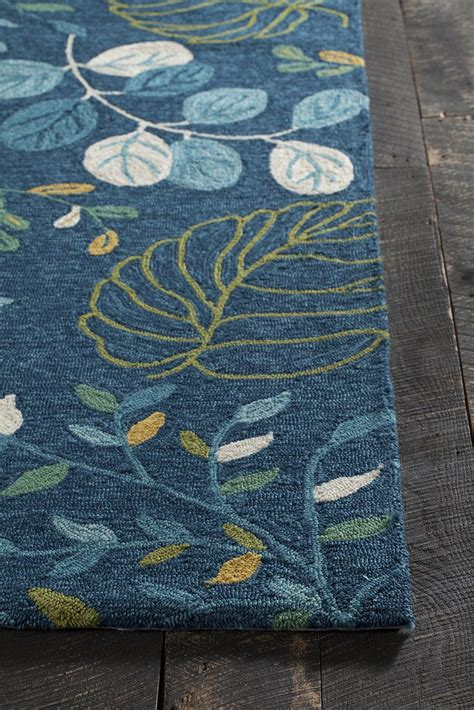 Terra Collection Hand Tufted Area Rug In Blue Cream Blue And Green Area Rugs