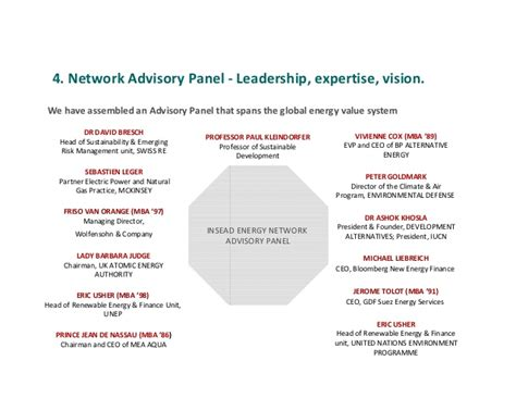Insead Mba And Gas by Insead Energy Network Our Vision And Press
