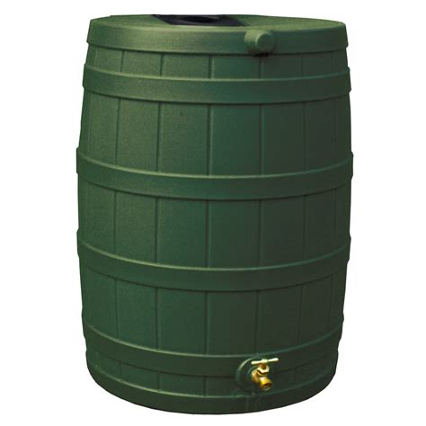 shop wizard 40 gallon green plastic barrel with