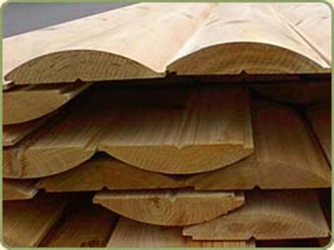 Log Cabin Boards by Creek Lumber Western Cedar Log Cabin Siding