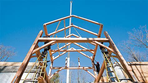 a frame building a house with no nails building a timber frame home