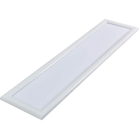 Commercial Electric 2 Ft X 4 Ft White Led Edge Lit Flat