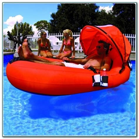 floating pool lounger with canopy pools home