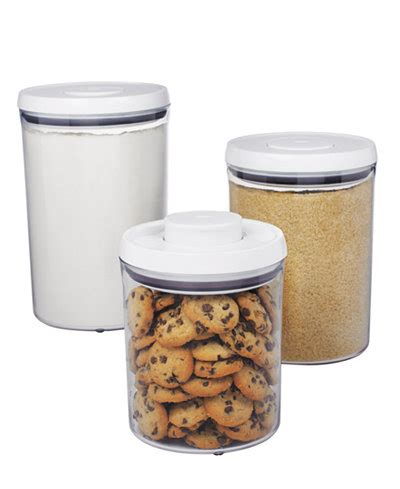 food canisters kitchen 2018 oxo food storage containers 3 pop canister set kitchen gadgets kitchen macy s