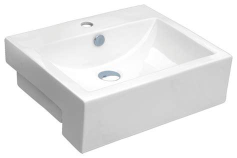 bathroom apron sink chinashell quot apron quot porcelain rectangular vessel sink