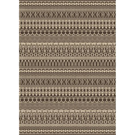 Washable Area Rug Shop Ruggable Washable Brown Espresso Rectangular Indoor Outdoor Machine Made Distressed Area
