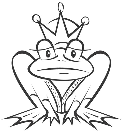 coloring page frog prince frog prince coloring page az coloring pages