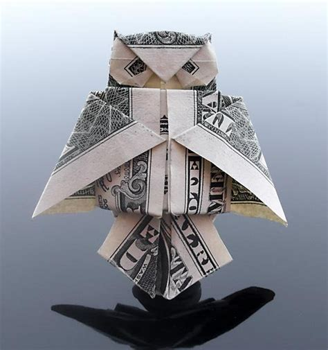 Money Origami Owl - 30 excellent exles of dollar bill origami