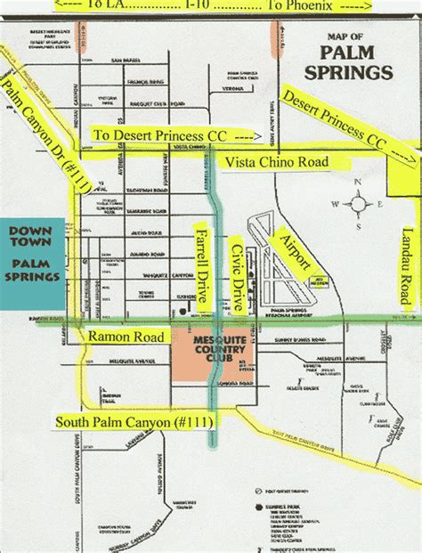 palm springs map palm springs ca map