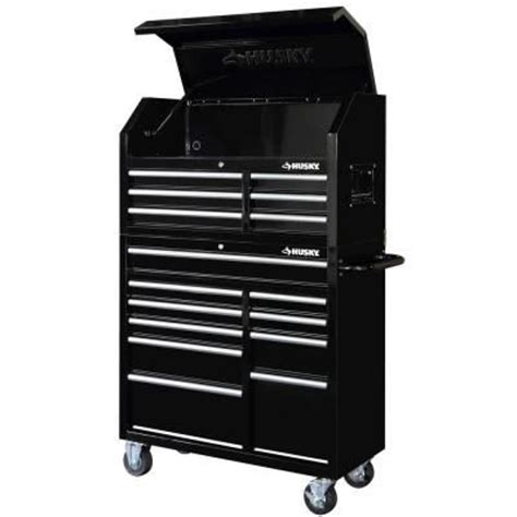 husky 41 in 16 drawer tool chest and rolling tool cabinet