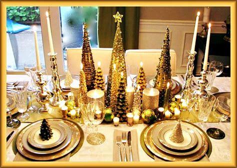 Rustic Tablescapes gold christmas tree tablescape design idea