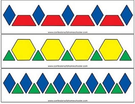 pattern block cards pattern block pattern cards math activities for