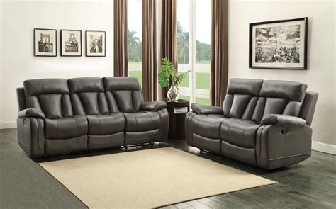 grey reclining sofa set homelegance ackerman reclining sofa set grey bonded