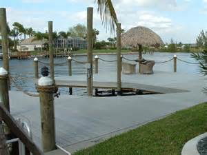 Upholstery Cape Coral Fl Barnett Marine Inc Bmi Custom Docks Amp Boat Lifts