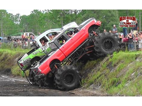 monster trucks mud bogging videos king krush monster truck in all day mud bog beatin doovi