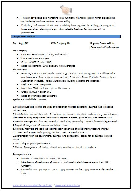 mechanical engineering resume template sample format for experienced