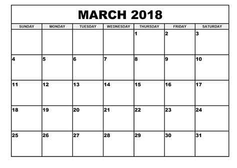printable calendar 2018 march printable monthly calendar march 2018 journalingsage com